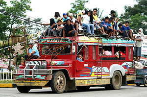 An overloaded Jeepney in southern Philippines