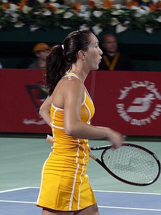 Jelena Janković - Janković at the 2007 Dubai Tennis Championships.
