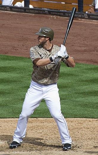 Jeremy Hermida - Hermida with the San Diego Padres in 2012
