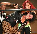 Jessicka Havok and Nevaeh (the Killer Death Machines) vs. Taeler Hendrix and Sassy Stephie. (14390209067).jpg