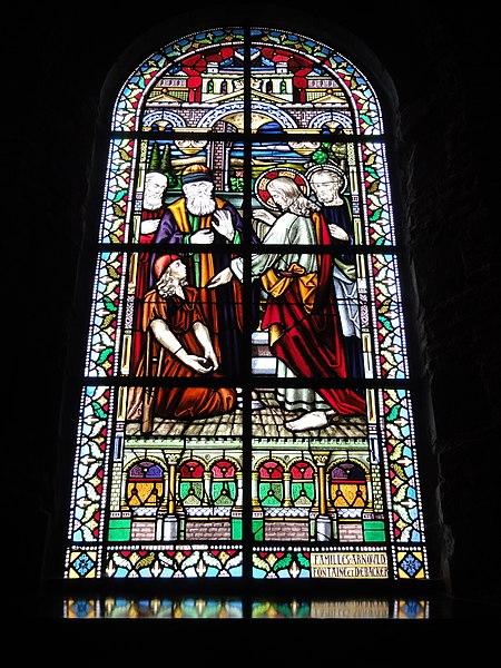 Jeumont (Nord, Fr) église St.Martin, vitrail 04 Guérison de l'homme à la main dessechée