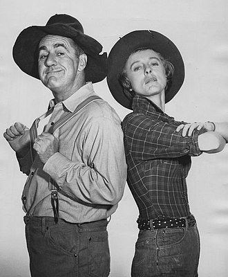 Jim Backus - Backus in a guest appearance on The Beverly Hillbillies, with Nancy Kulp (1963)
