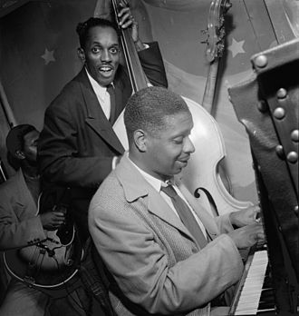 Jimmy Jones (pianist) - Jimmy Jones and John Levy, 1947  Photography by William P. Gottlieb