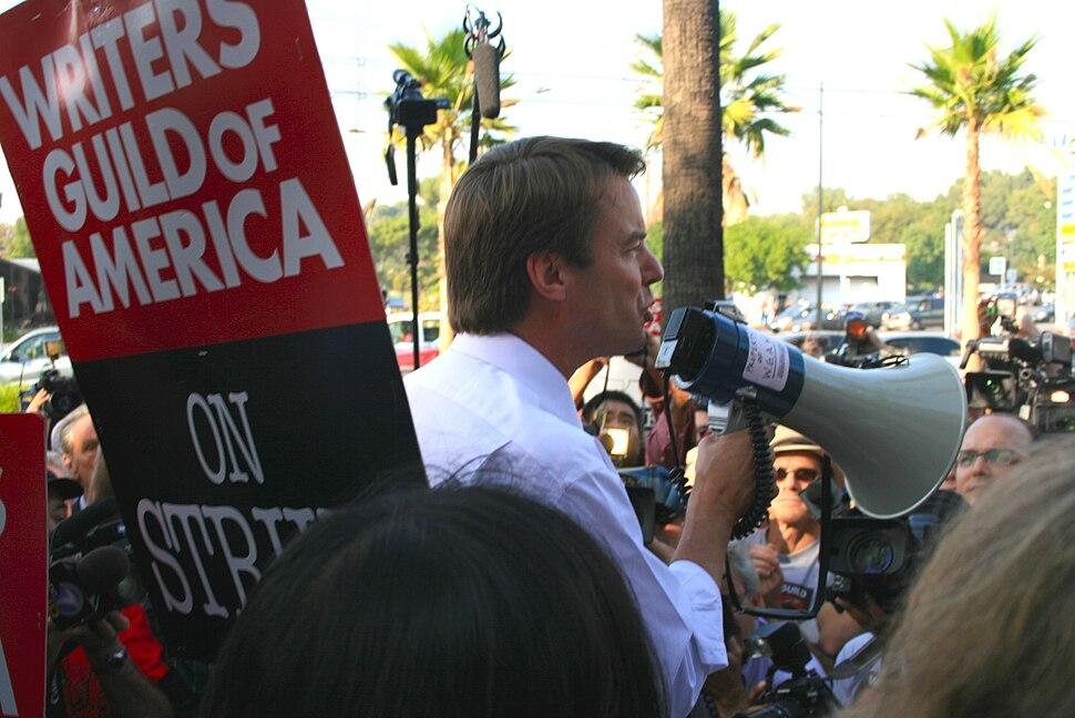 John Edwards WGA strike