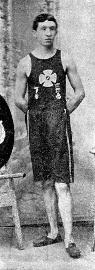 John McDermott (runner) - John J. MacDermott, winner of the first Boston Marathon, in 1898