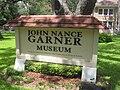 John Nance Garner Museum sign IMG 4279.JPG