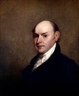 John Quincy Adams and abolitionism - John Quincy Adams by Gilbert Stuart, 1818