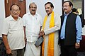 John Rotluangliana and Prof. K.V. Thomas, MP meeting with the Minister of State for Culture (Independent Charge), Tourism (Independent Charge) and Civil Aviation, Dr. Mahesh Sharma, in New Delhi on August 28, 2015.jpg