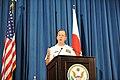 Joint Chiefs Chairman Adm. Mullen Addresses Tokyo Press (5941728629).jpg