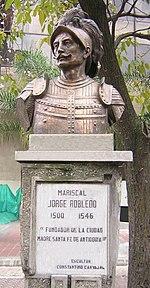 Mariscal Jorge Robledo, busto en Medellín