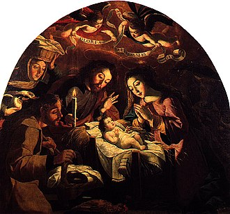Baroque painting - ''Nativity'' by Josefa de Óbidos, 1669, National Museum of Ancient Art, Lisbon