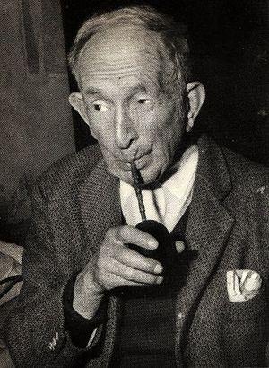 Juan de Dios Filiberto - Filiberto sipping yerba maté in later life.