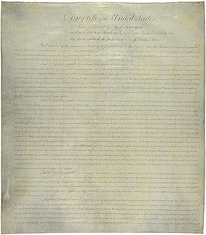 The first page of the Judiciary Act of 1789.
