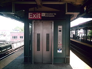 Junction Boulevard (IRT Flushing Line) - Elevator from platform