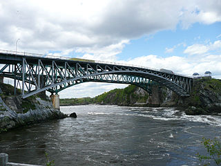 series of rapids on the Saint John River located in central eastern Canada