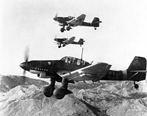 Junkers Ju 87 - Image: Junkers Ju 87Ds in flight Oct 1943