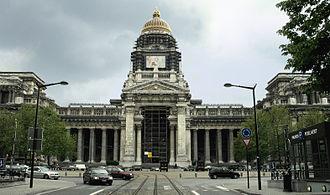 Palais de Justice, Brussels - Main façade being renovated