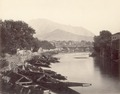 KITLV 100462 - Unknown - Port for proas, presumably at Srinagar in British India - Around 1870.tif