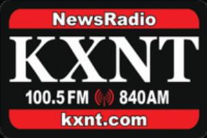 KXNT (AM) - Logo during simulcast on 100.5 FM