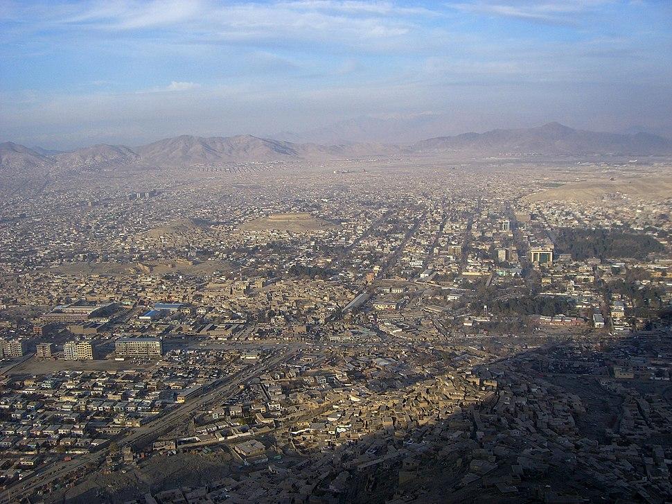 Kabul TV Hill view