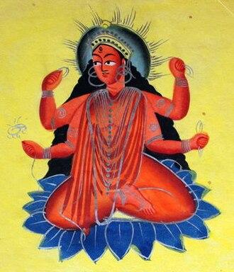 Matangi - A Kalighat painting of Matangi
