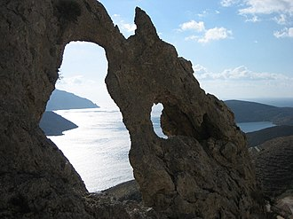 Kalymnos - The natural rock arch in Kalymnos.