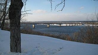 Kama River - Image: Kama bridge