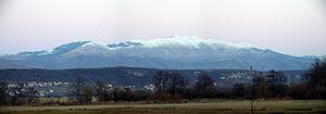Kamešnica (mountain) - Kamešnica under snow