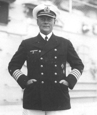 Abwehr - Image: Kapitän zur See Konrad Patzig, first commanding officer of Admiral Graf Spee