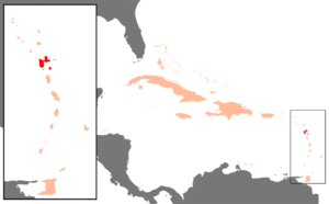 Position of Guadeloupe in the Carribbean