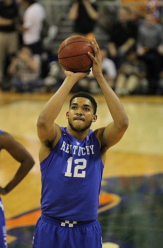Karl-Anthony Towns - Towns shooting a free throw against the Florida Gators in 2015