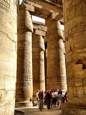 History of architecture - Image: Karnak Columns (2347891960)