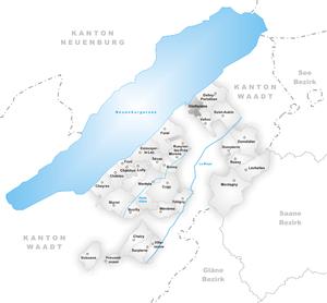 Gletterens - Image: Karte Gemeinde Gletterens