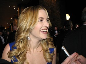 English actress Kate Winslet. Being interviewe...