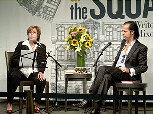 Katherine Lanpher - Lanpher interviewing Nick Cave in New York City, 2009.