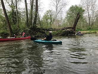 Octoraro Creek - Kayakers on Octoraro Creek