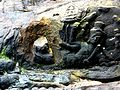 Kbal Spean - 019 Vishnu with Lakshmi (looted) (8583654039).jpg