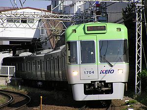 Keio Inokashira Line - A Keio 1000 series EMUs on the Inokashira Line
