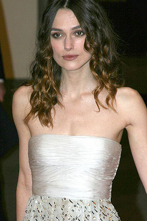 English: Keira attends the BAFTA'S 2008