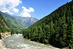 Verdant forests predominate in the Neelum Valley