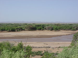 Kerio River - Kerio River flowing after heavy spring rainstorms in the area