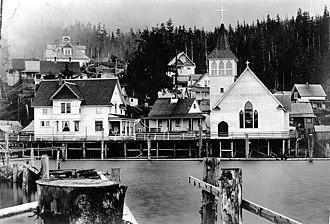 Ketchikan, Alaska - Ketchikan waterfront ca. 1918