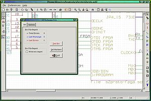 Electronic design automation - Schematic capture program