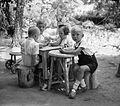 Kids, garden, meal Fortepan 12819.jpg