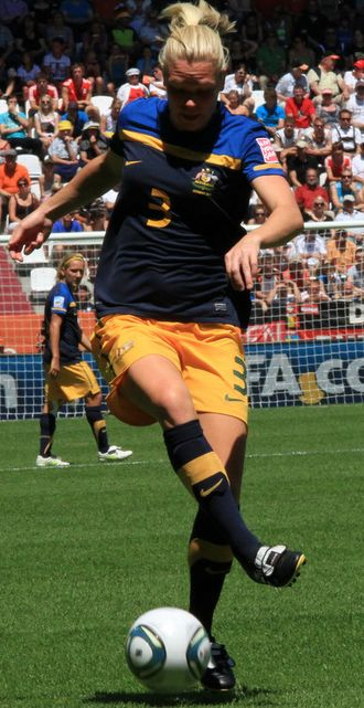 Kim Carroll (soccer) - Carroll playing for Australia in 2011