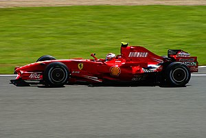 2007 British Grand Prix - Räikkönen got past Hamilton at the first round of pit stops and Alonso during the second to take his third win of the season.