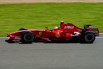 Silverstone Circuit - Kimi Räikkönen piloting his Ferrari to victory in the 2007 British Grand Prix