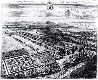 Kings Weston House - Kip's view of the estate with its previous house
