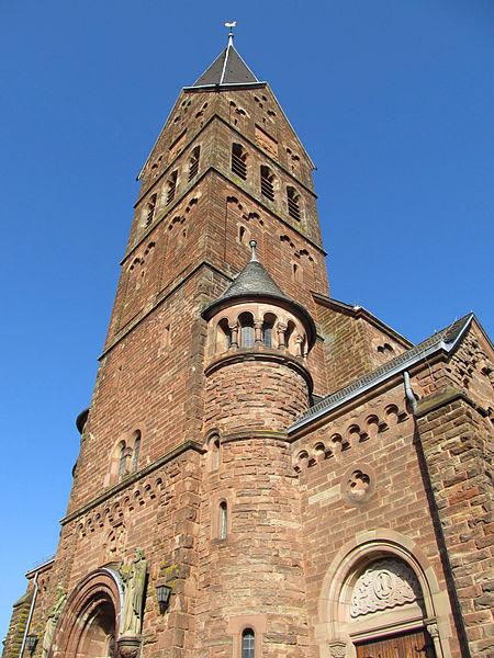 Die katholische Pfarrkirche St. Agatha in Kleinblittersdorf, Regionalverband Saarbrücken, Saarland
