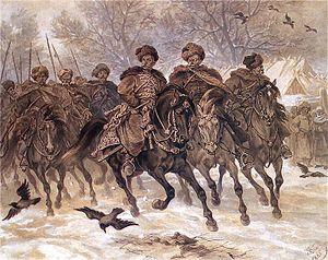 The Deluge (novel) - Kmita's companions on a ride